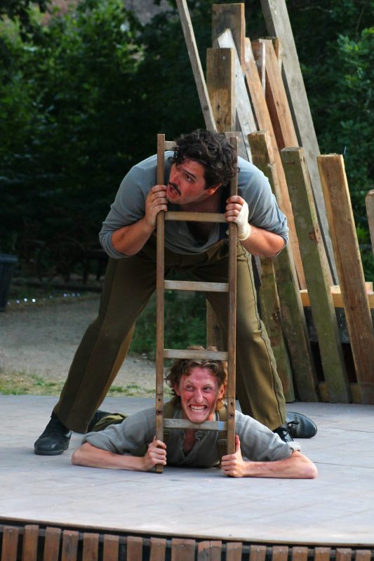 David McCarthy and Adam Young in Henry V, 2018