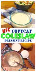 Making Coleslaw Dressing is so cheap and easy, you'll never buy Kraft again! Plus you get the familiar taste of a great tasting Coleslaw Dressing.