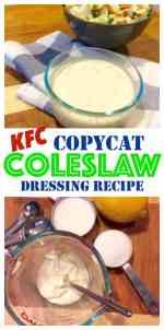 Copycat KFC Coleslaw Dressing