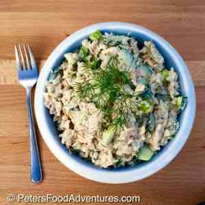 Russian Tuna Salad Recipe (рыбный салат)