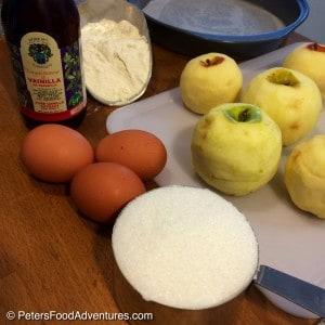 Sharlotka ingredients on table