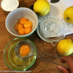 Lemon Curd Recipe ingredients