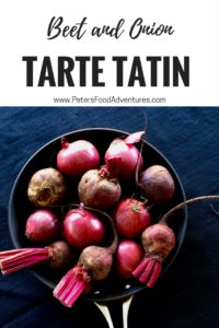 A cold weather family favourite recipe, an interpretation of the French Classic Tarte Tatin - Beetroot Tarte Tatin with onions, goat's cheese & fresh thyme.
