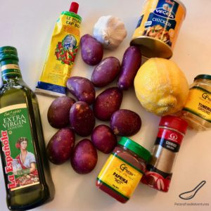 Moroccan Potatoes Ingredients