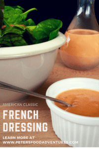 A delicious and creamy French Salad Dressing made in 2 easy steps. So tasty, I could almost drink it - Creamy Homemade French Salad Dressing.