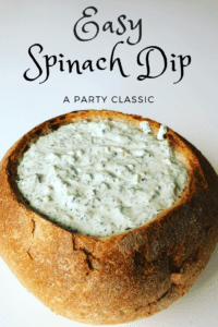 Classic Spinach Dip that everyone loves! Easy to make and full of flavor, a crowd pleaser at your next bbq or potluck. Easy Spinach Dip in 10 minutes