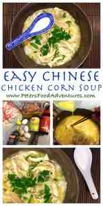 Quick, easy to make and exploding with flavour. Authentic Asian chunky chicken soup, guaranteed to warm your soul, made with rotisserie chicken - Chinese Chicken and Corn Noodle Soup Recipe