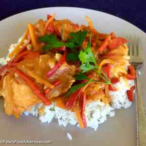 Salmon Podlivka with Rice (Рис с Подливкой из Лосося)