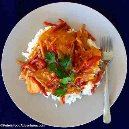Salmon Podliva with Rice (Рис с Подливой из Лосося)