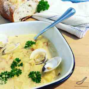 Clam Chowder made with Fresh Clams