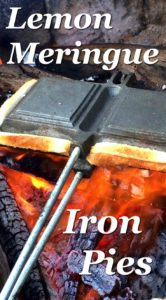 Just in time for camping season - Pie Iron Recipes that are a little bit fancy, yet super easy to make. #campinghero Amazing Pie Iron Recipes - Lemon Meringue and Chocolate Caramel Iron Pies