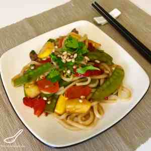 Pattypan Squash Asian Stir Fry