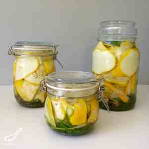 Quick Pickled Summer Squash
