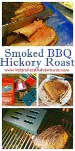 Hickory Smoked BBQ Roast Beef over a Propane Gas BBQ or Braai, using a iron smoker box - Hickory BBQ Smoked Roast