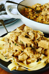 Chicken Stroganoff with Mushrooms