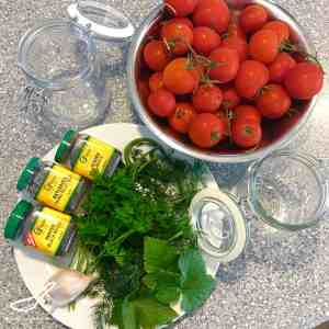 Russian Marinated Pickled Tomatoes (солёные помидоры)