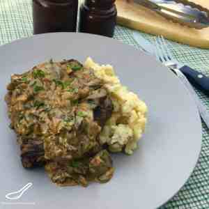 Steak Diane Sauce with Mushrooms