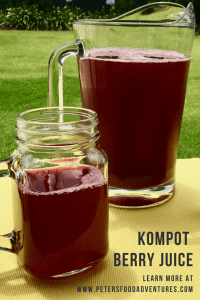 Kompot Homemade Berry Juice