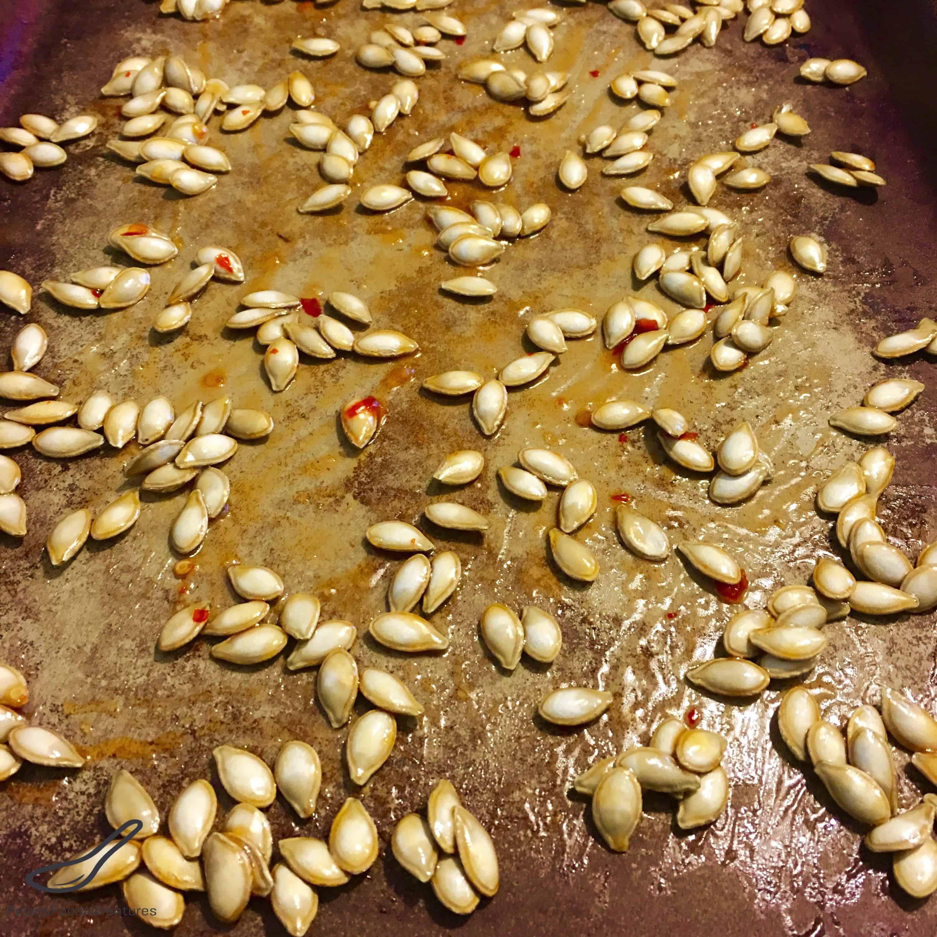 Sweet Chili Roasted Pumpkin Seeds Recipe - Peter's Food Adventures