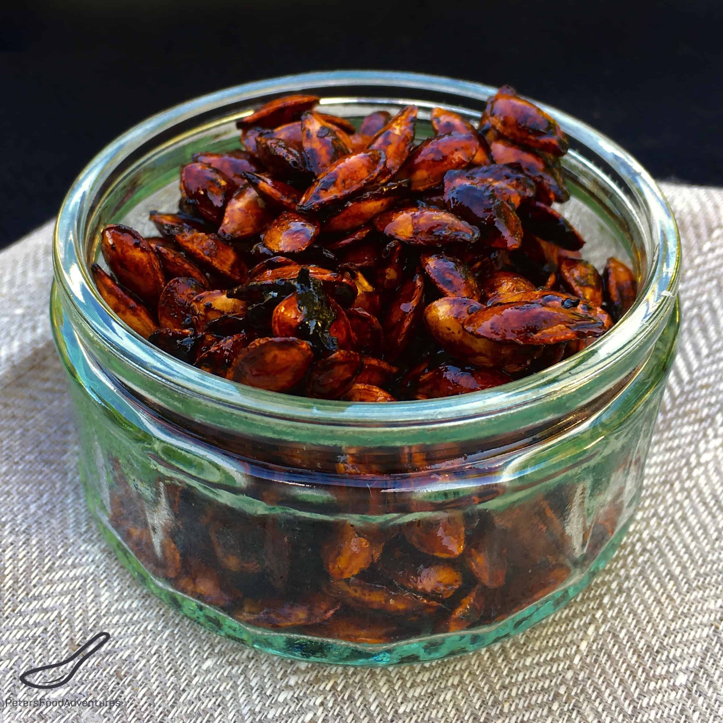 ... snack with amazing health benefits - Sweet Chili Roasted Pumpkin Seeds
