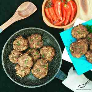 A Russian Classic - Beef meat patties made juicier with added grated potato, like Russian Meatballs - Beef and Potato Kotleti Meat Patties (Котлеты)