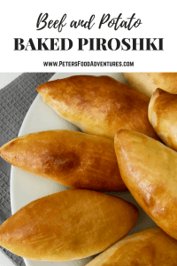 Baked Potato Piroshki - stuffed with Potato & Beef - A healthier version of a Russian classic (Пирожки в духовке с картошкой)