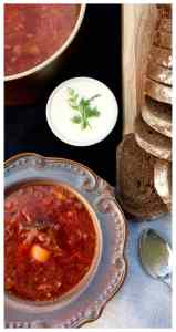 "This is a genuine Russian beet and cabbage soup recipe, easy, delicious and heartwarming. Beef, cabbage, beets, potatoes, and no strange additions or ""shortcuts"" you find in many borscht soups today - Borscht is so popular, that it was even eaten by Soviet cosmonauts in space. Classic Russian Beet Borscht Recipe (Борщ)"