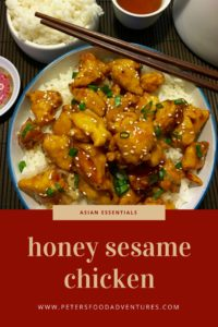 Homemade Honey Sesame Chicken recipe, Who needs takeout? Step by step recipe for a sweet and sticky family dinner favourite. Boneless Chicken, honey, garlic, soy and sesame, served over rice.