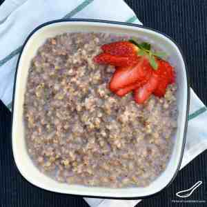 A Russian and Eastern European Breakfast Kasha Porridge. Incredibly Healthy, Low GI, and Gluten Free Superfood! Buckwheat Porridge with Milk (Гречневая каша)