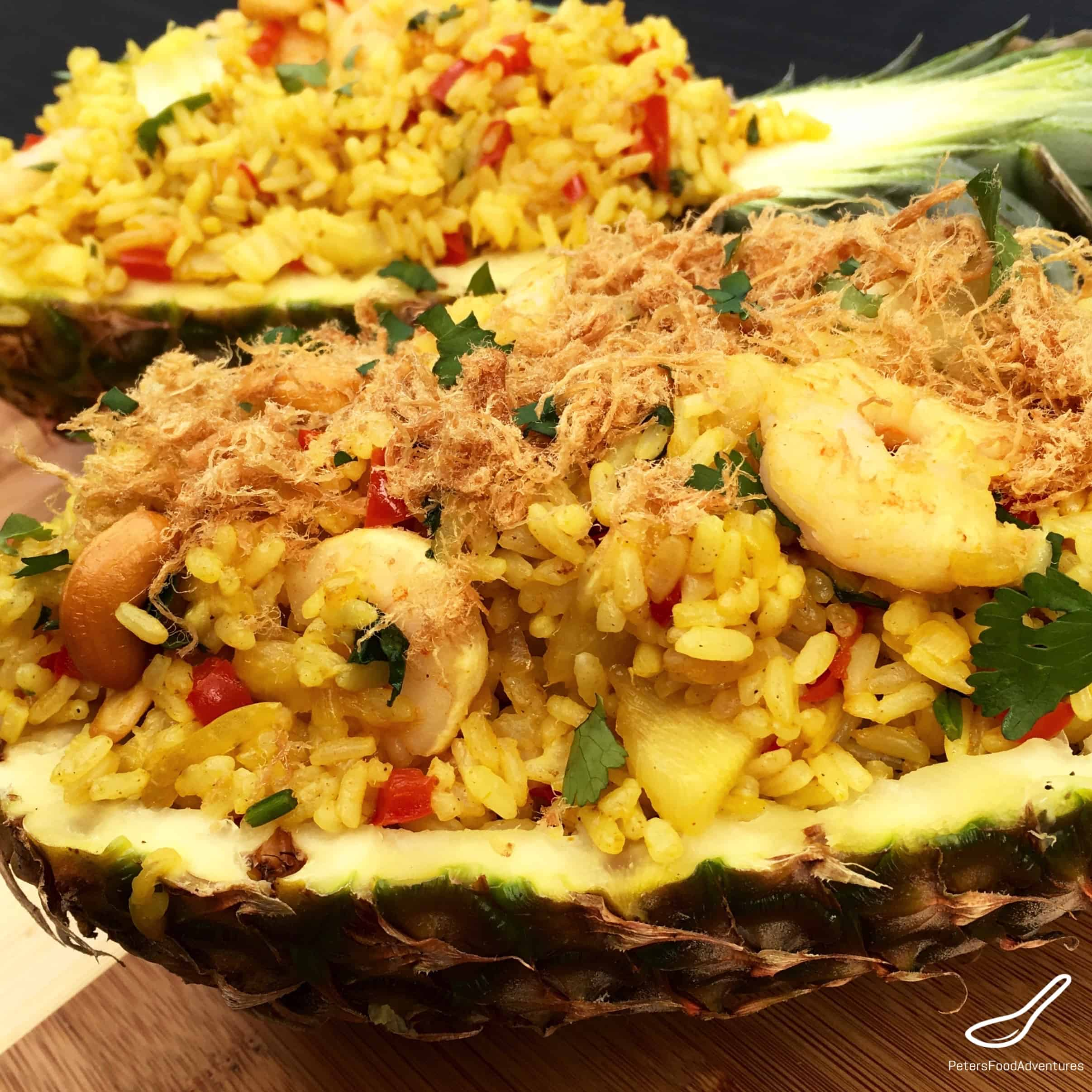 Pineapple fried rice peters food adventures authentic thai pineapple fried rice easy to make and delicious ccuart Gallery