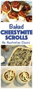 An Australian baked classic Scroll. Cheese and Vegemite rolled up inside fresh yeast dough. Easy dough recipe made with a bread maker. Perfect with a Cuppa!