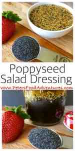 Poppy Seed Salad Dressing for Strawberry Spinach Salad