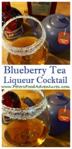 This Delicious and Warming Hot Blueberry Tea Cocktail has Grand Marnier, Amaretto and Orange Pekoe tea which tastes fruity, with a hint of blueberries. This hot tea cocktail is a variant of a hot toddy - Hot Blueberry Tea Liqueur Cocktail