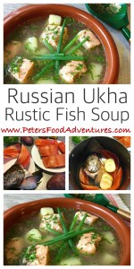 Rustic Russian Fish Head Soup and Fish Broth made with Salmon, Trout and of course potatoes and dill, enjoyed in Russia for hundred of years - Authentic Ukha Fish Soup (Уха)