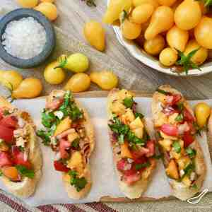 Summertime Bruschetta with Tomato & Basil