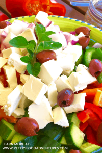 Traditional Greek Salad in a bowl