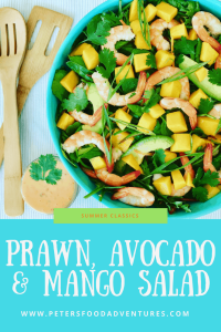 This Prawn and Avocado Mango Salad is delicious, fresh and healthy - made with an easy creamy Thai Sweet Chili n Lime Dressing - Shrimp Mango Salad