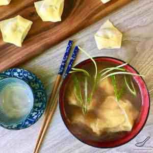 Authentic Turkey Wonton Soup