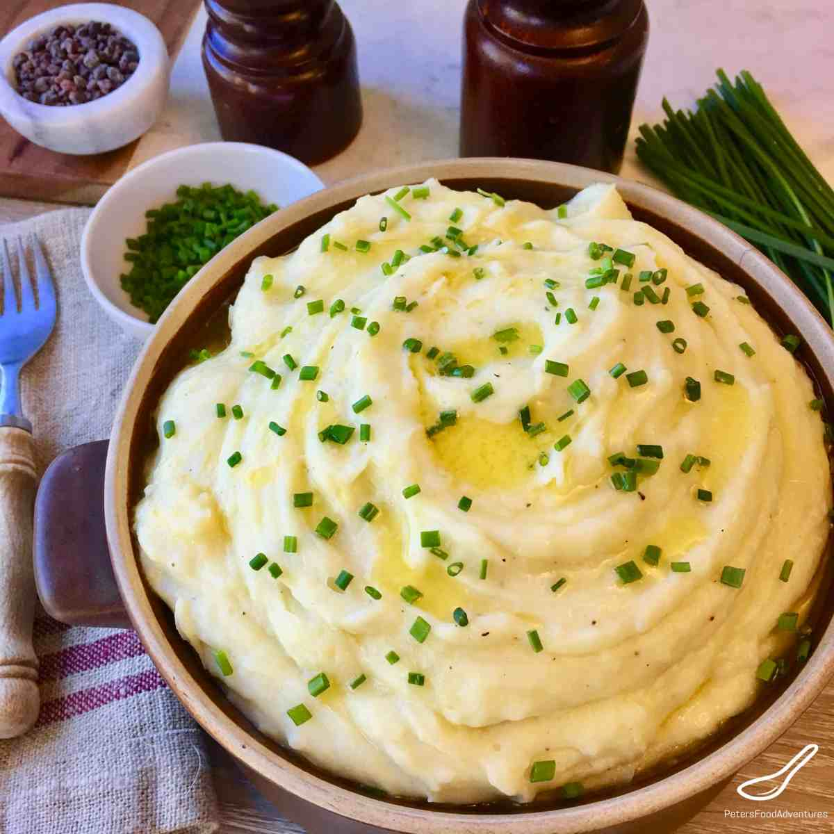 Creamy Garlic Mashed Potatoes Recipe