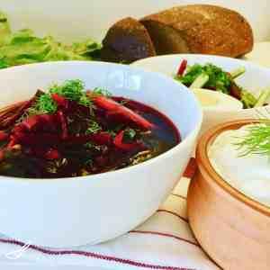 Cold Beet Soup Svekolnik (Свекольник)