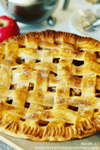 This Classic Apple Pie recipe is a family favorite! As American as Apple Pie, made with fresh apples, brown sugar, cinnamon with a shortcrust lattice pastry. This will be the only apple pie recipe you'll need! American Apple Pie