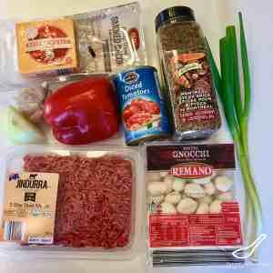 Gnocchi Beef Ingredients