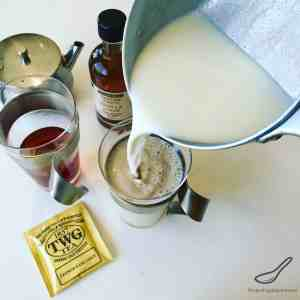 London Fog Tea Latte is so easy to make, creamy, smooth and delicious. Steeped Earl Grey Tea with steamed milk and vanilla, a modern twist on a classic.