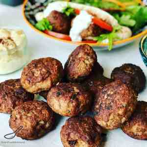 Lamb Patties in Pita Bread with salad is delicious summer meal. It's like a small lamb burger, lamb meatball or lamb rissoles, perfect for lunch or as an appetizer! If you don't like lamb, you can swap with beef.