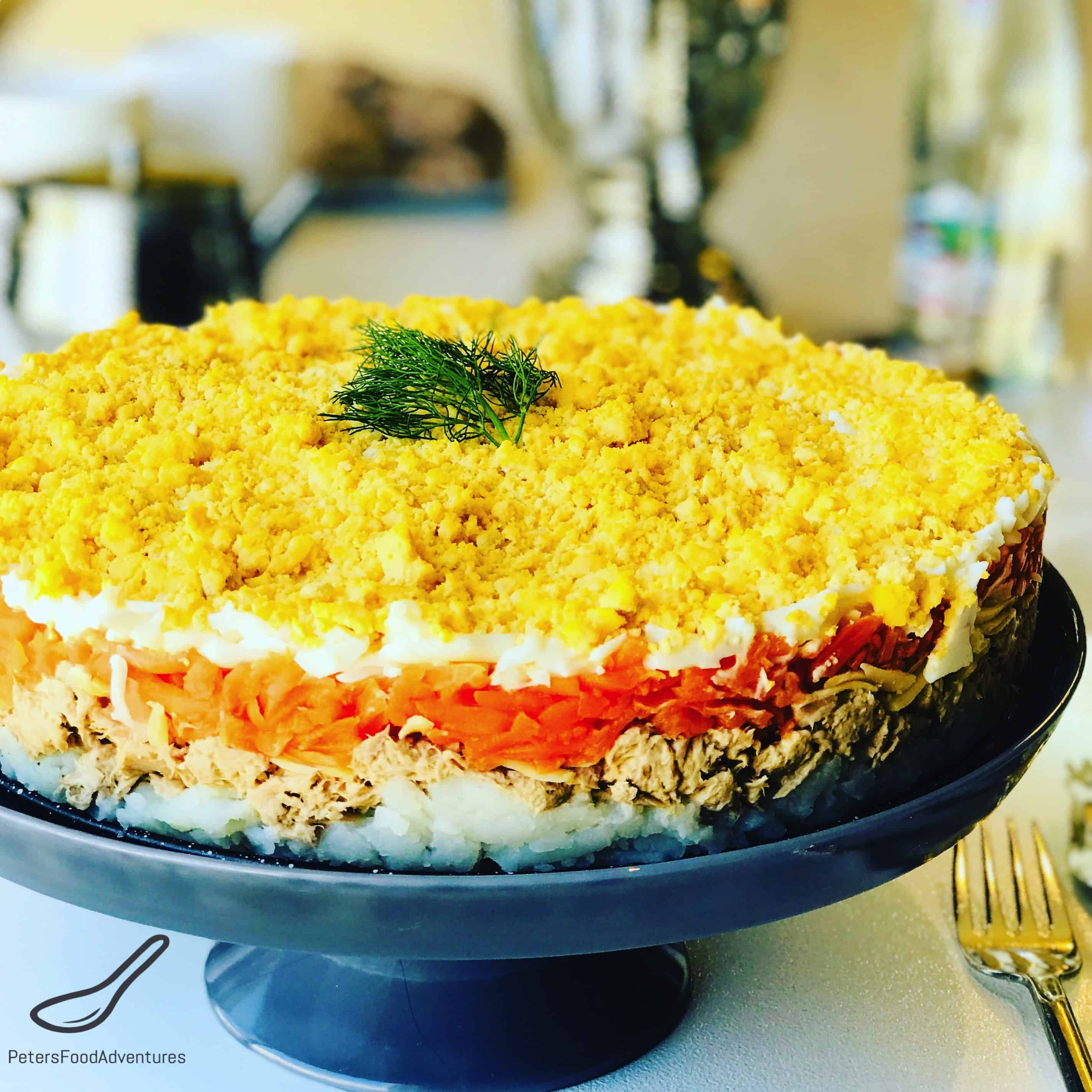 Mimosa Salad - 6 classic Mimosa salad recipes with canned food 40
