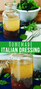 This Zesty Italian Dressing Recipe is a perfect for a summer garden salad. A vinaigrette that's so easy to make, and you'll probably have all the ingredients in your pantry. My Kraft Copycat Italian Dressing Recipe