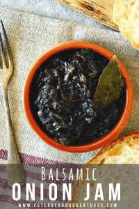 Balsamic Onion Jam or Onion Relish
