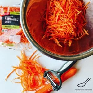 Preparing Korean Carrot Salad recipe