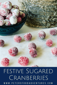 festive sugared cranberries