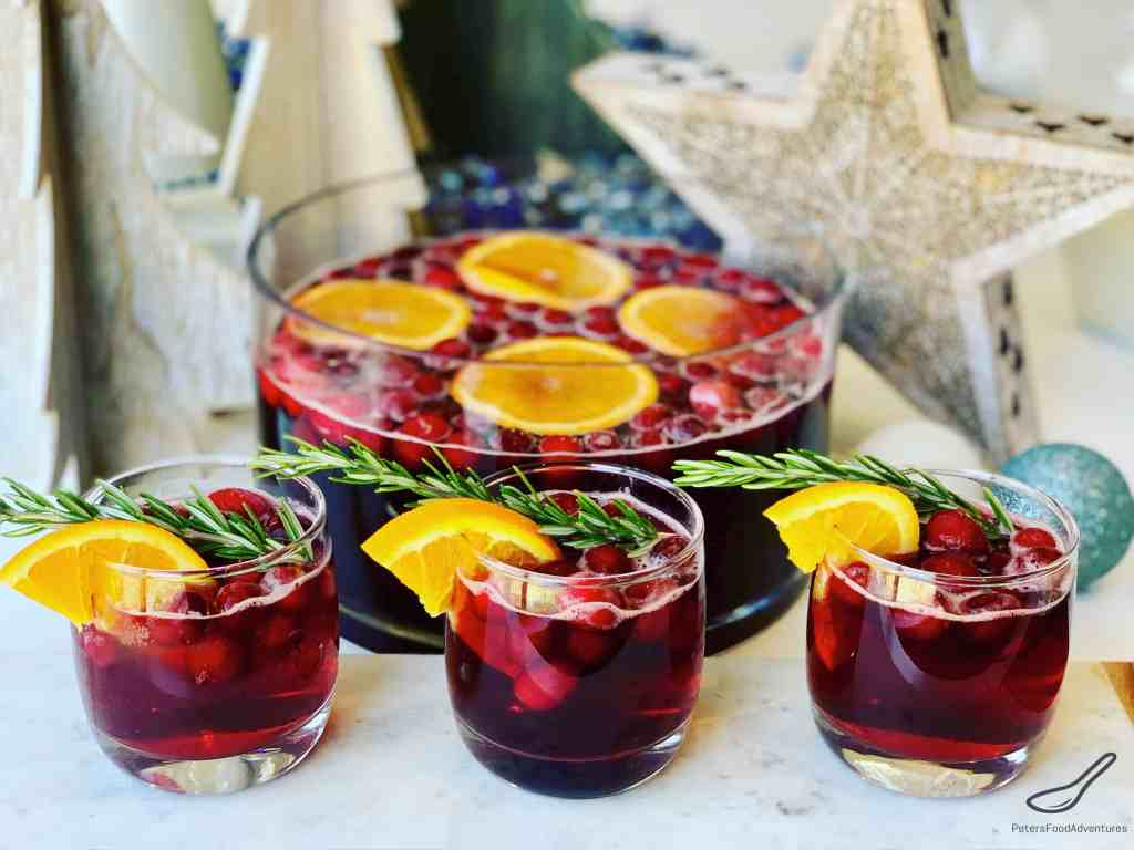 Cranberry Christmas Punch.Christmas Punch With Cranberries Peter S Food Adventures